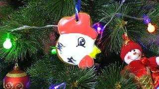 Пряник Новогодний петух 2017  Christmas gingerbread