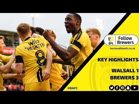 MATCH HIGHLIGHTS | Walsall 1-3 Burton Albion