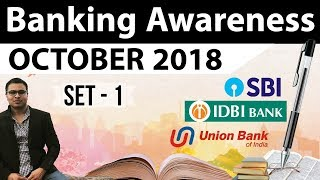 Banking Awareness October 2018 Part 1 by Dr Gaurav Garg for RBI Grade B/IBPS/RRB/SBI PO CLERK