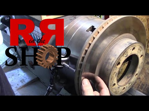 How To Turn a Brake Disc/Rotor for a Toyota Tacoma Pickup