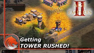 Getting Tower Rushed in Age of Empires II!