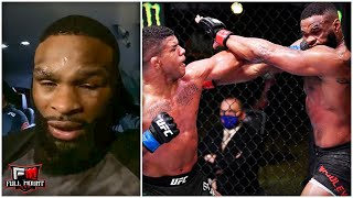 Tyron Woodley reacts to losing to Gilbert Burns at UFC Vegas