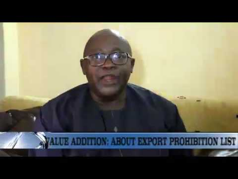 Items on Nigeria's Export Prohibition List