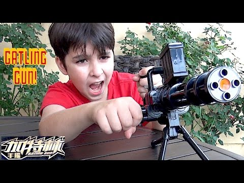 Dart & Jelly Beads Shooting Gatling Gun With William-Haik!