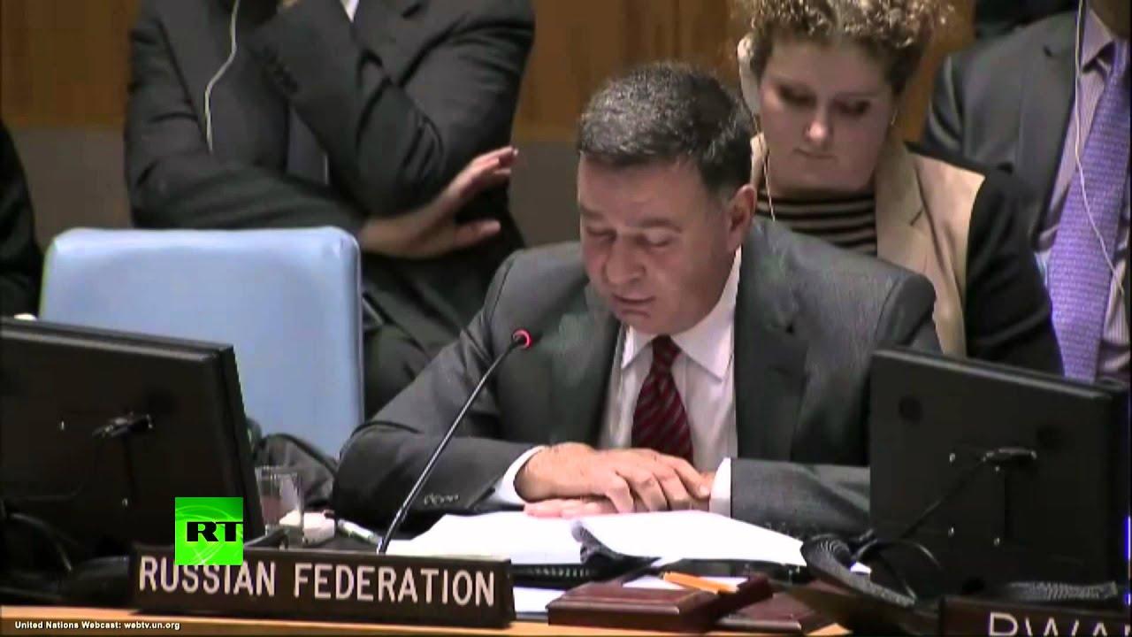 Представитель РФ при ООН призвал коллег «не превращать заседание Совета в фарс и оголтелую истерику»