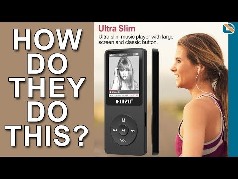 Ultra Slim MP3 Digital Music Player - Ruizu X02