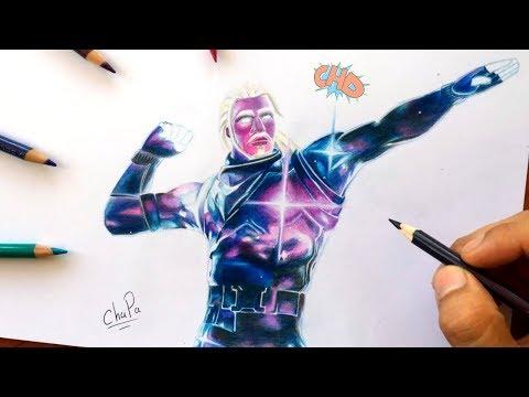 Cómo Dibujo La Skin Galaxy De Fortnite How To Draw Skin Galaxy