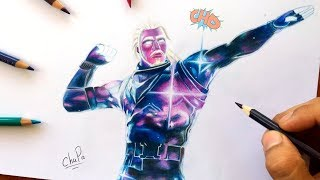 Cómo Dibujo la Skin GALAXY de FORTNITE | How To Draw Skin Galaxy Fortnite | Drawing Fortnite