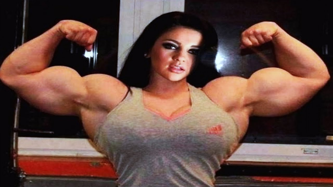 Black bodybuilder workout female big