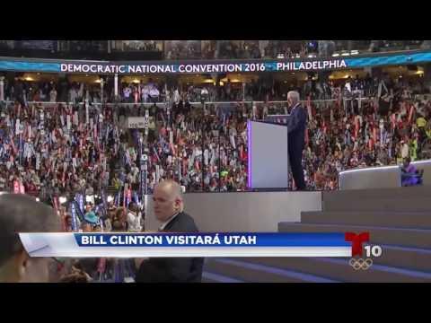 Bill Clinton Visitará Utah