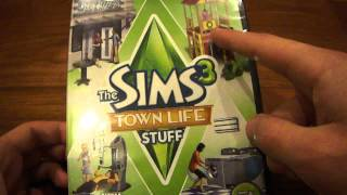 The Sims 3 Town Life stuff pack unboxing