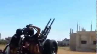 Сирия война атака МИГ 29 в толпу боевиков  Syria war rebels