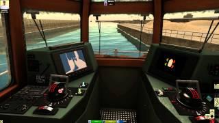 European Ship Simulator - Eight Minutes Of Internal Tug Gameplay (60 FPS)