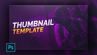 PUBG Thumbnail Template | FREE | 2020 | Photoshop CC | BG ONLY