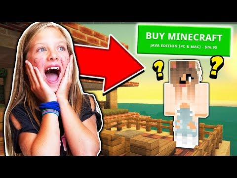 BUYING MY SISTER A MINECRAFT ACCOUNT!