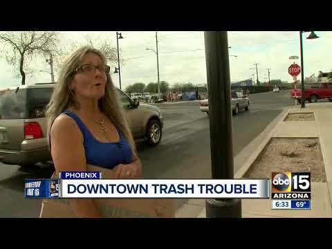 Trash in downtown Phoenix area 'out of hand' according to residents
