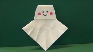 """梅雨の救世主「てるてる坊主」折り紙Savior """"paper doll for fine weather"""" origami of a rainy season"""
