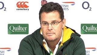 England v South Africa - Rassie Erasmus & Siya Kolisi Post Match Press Conference