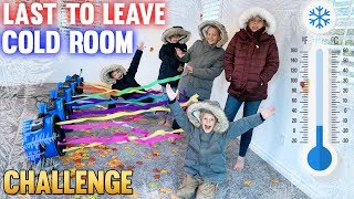 Last to Leave a FREEZING COLD Room WINS!!