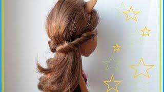 Как сделать прическу кукле #2 Hairstyle for doll #2