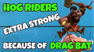 HOGS VERY STRONG BECAUSE OF DRAG BAT META! hog rider th10 attack stragey | coc | clash of clans