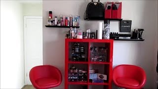 """updated"" Makeup Room Setup: Makeup Storage/collection"