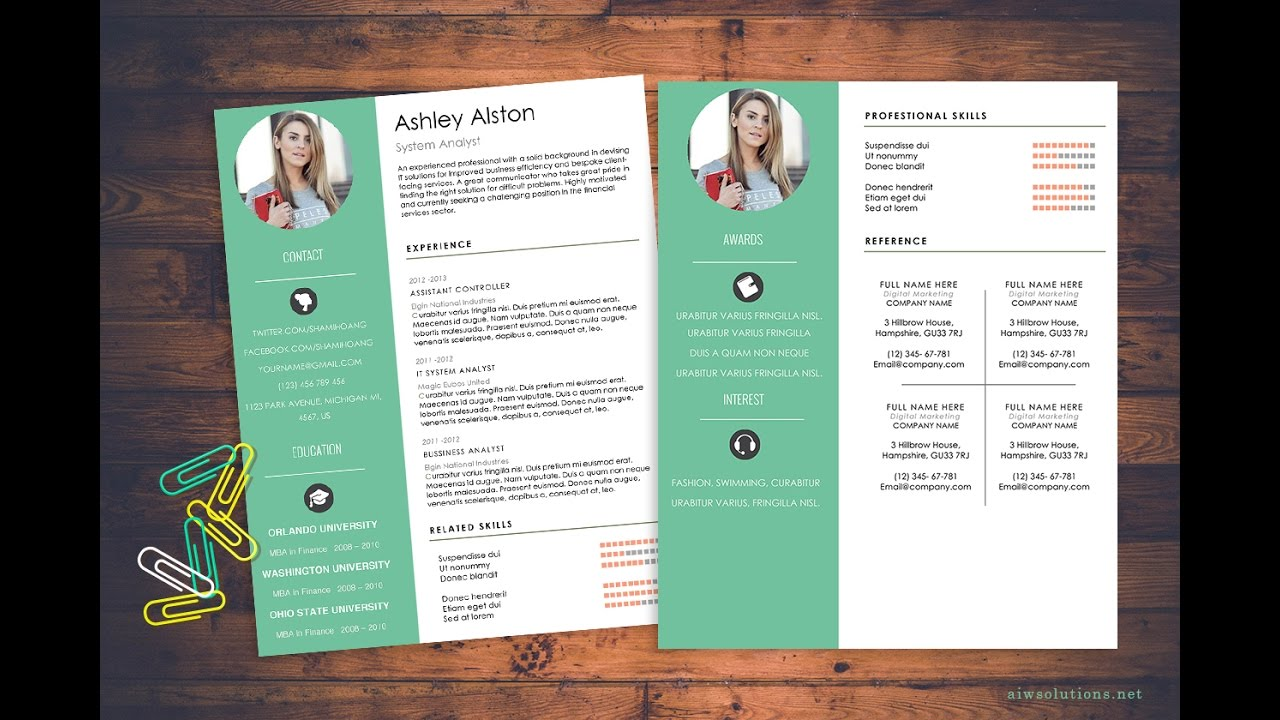 how to create a cv template in word