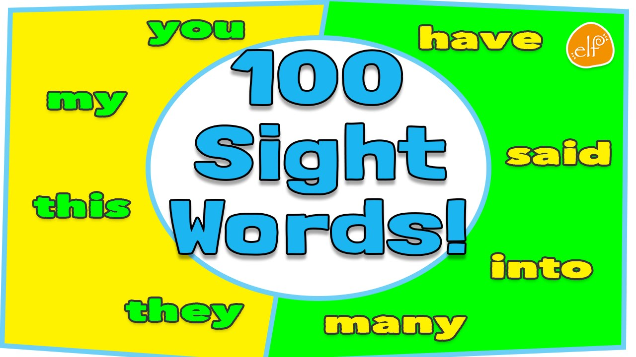 100 Sight Words Collection for Children - Dolch Top 100 Words by ELF ...