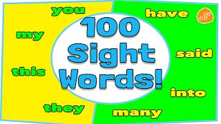 Repeat youtube video 100 Sight Words Collection for Children - Dolch Top 100 Words by ELF Learning