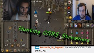 Stalking OSRS Streamers for REACTIONS! (200m+ MADE!)