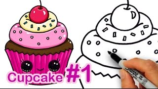 How to Draw a CUTE Cupcake #1