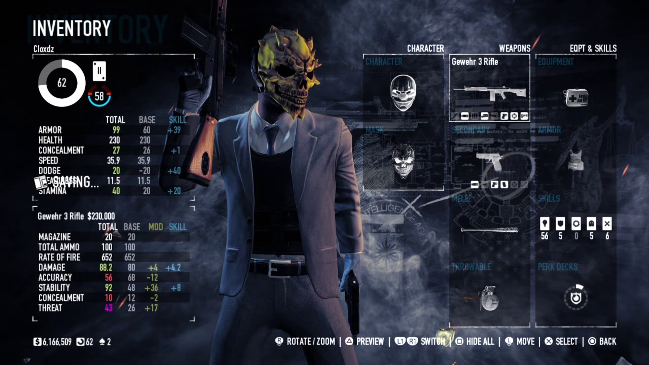 Payday 2 Dodge Build 2017 >> PAYDAY 2: CRIMEWAVE EDITION Updated Dodge Build - YouTube