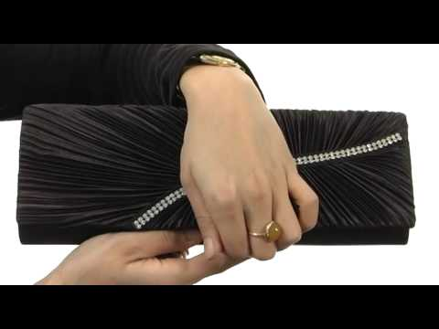 Jessica McClintock Pleated Flap w/ Rhinestone SKU:#8321146