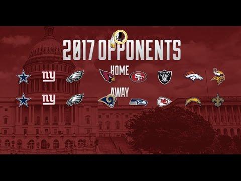 The Redskins Report: Washington Redskins 2017 Regular Season Schedule Overview