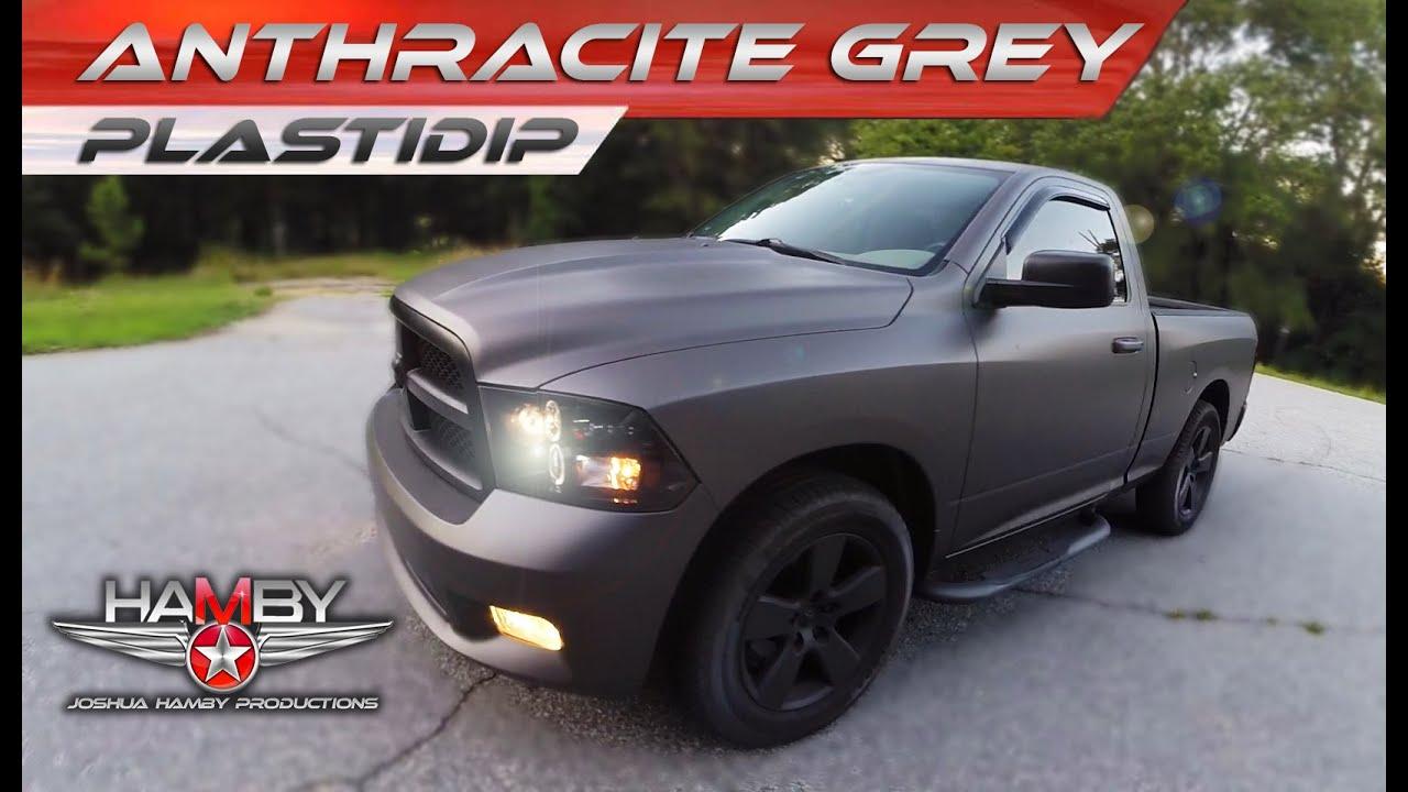 Plastidip Dodge Ram Anthracite Grey Youtube