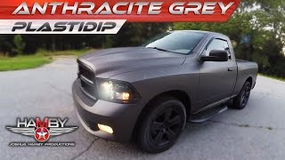 PlastiDip Dodge Ram Anthracite Grey