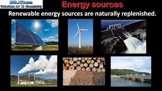 C.1 Renewable and non-renewable energy sources (SL)