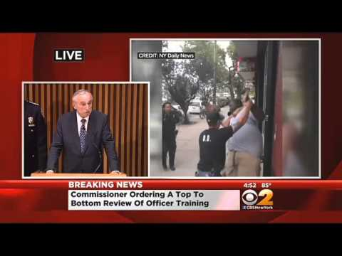 NYPD Commissioner Bratton Speaks On Probe Into Eric Garner's Death, Brooklyn Bridge Flag Tampering