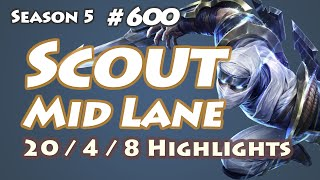SKT T1 Scout - Zed vs Twisted Fate - Bang, KR LOL SoloQ Highlights