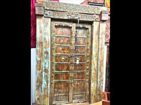 Indian Antique Doors Architectural - Indian Antique Doors Architectural - YouTube