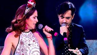 Laura Novoa y Pato Arellano cantaron la cortina musical de