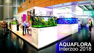 Aquaflora and Ruinemans booth at Interzoo 2018 - All aquascapes