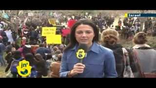 Ethiopians stage protest in Jerusalem against racism at Knesset and Zion Square - Tzipi Livni speaks
