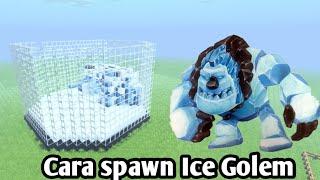 Cara spawn Ice Golem di mcpe