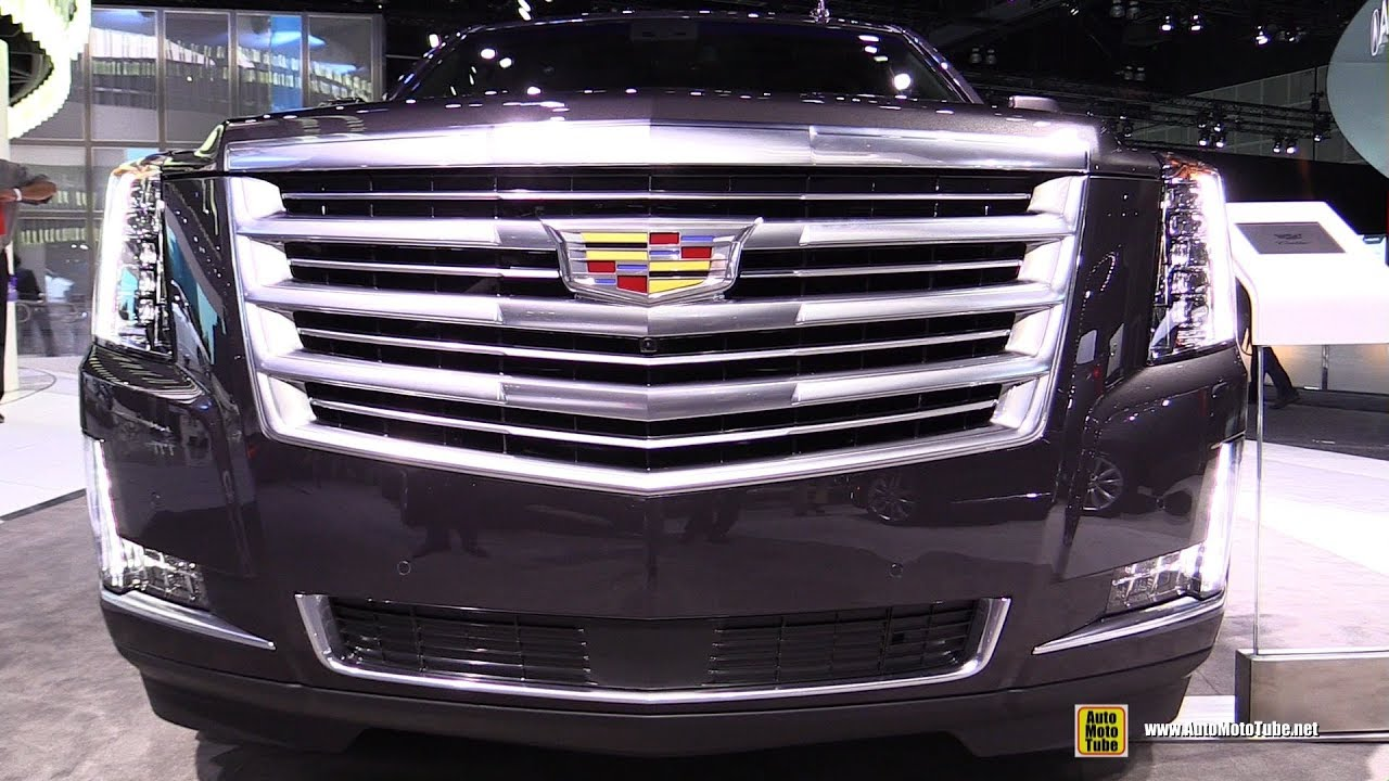 2018 Cadillac Escalade Exterior And Interior Walkaround 2017 La Auto Show Youtube