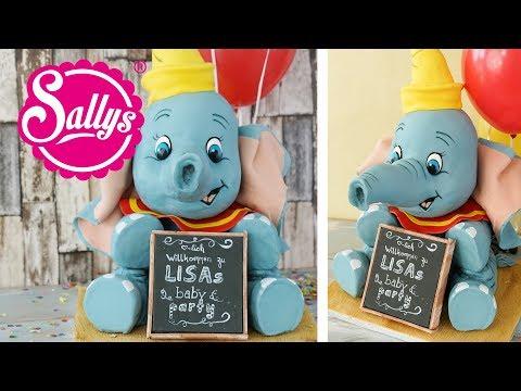 3 D Dumbo Cake / Dumbo Torte / Geburtstagstorte / Baby Torte / Sallys Welt
