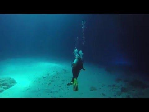 Diving Cathedral Cave, Eua Island, Tonga