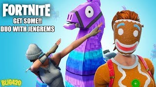 FORTNITE. BATTLE ROYALE DUO'S WITH MA BAE JENGREMS!! GET SOME!!
