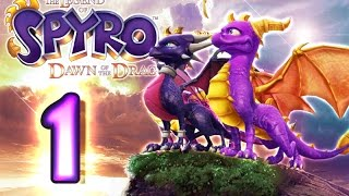 The Legend of Spyro: Dawn of the Dragon Walkthrough Part 1 (X360, PS3, Wii, PS2) 100% The Catacombs