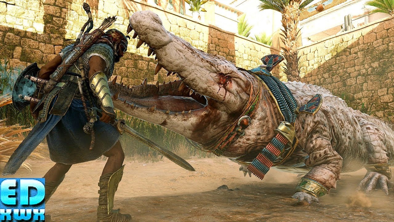 Assassin S Creed Origins Saving The Gigant Crocodile Sobek S Tears Maxed Out Settings Youtube